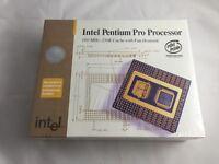 Intel Pentium Pro Cpu In Box Vintage Collectible Rare High Gold Scrap no:)