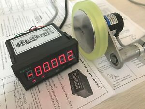HQ-1mm-Resolution-Photoelectric-Length-Meter-Kits-Grating-Counter-300mm-Wheel