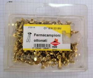400-Fermacampioni-ottonati-lunghezza-18-mm-clip-chiusura-buste-posta-ufficio