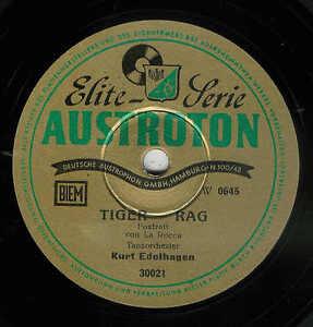 Orchester-Kurt-EDELHAGEN-Tiger-Rag-amp-In-the-Mood-78er-rpm-AUSTROTON-Schellack