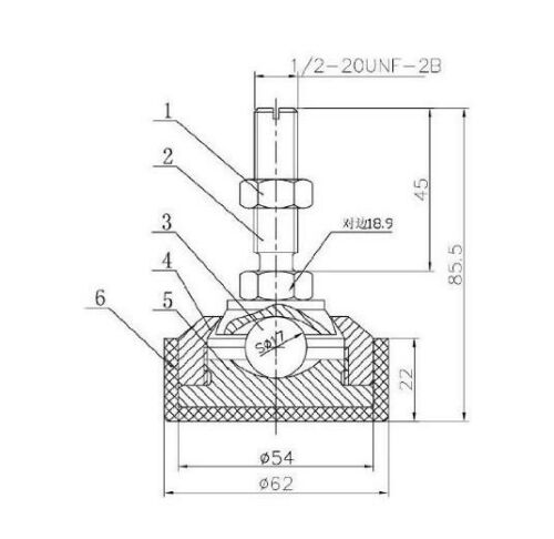 Floor Scale// Platform//Hopper //Load Cell Adjustable swivel steel Foot,1//2-20,NEW
