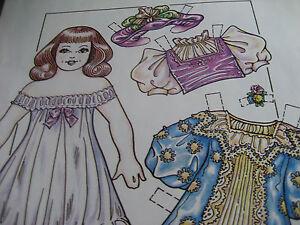 1992-Charles-Ventura-Victorian-Girl-Doll-Paper-Doll-UNCUT