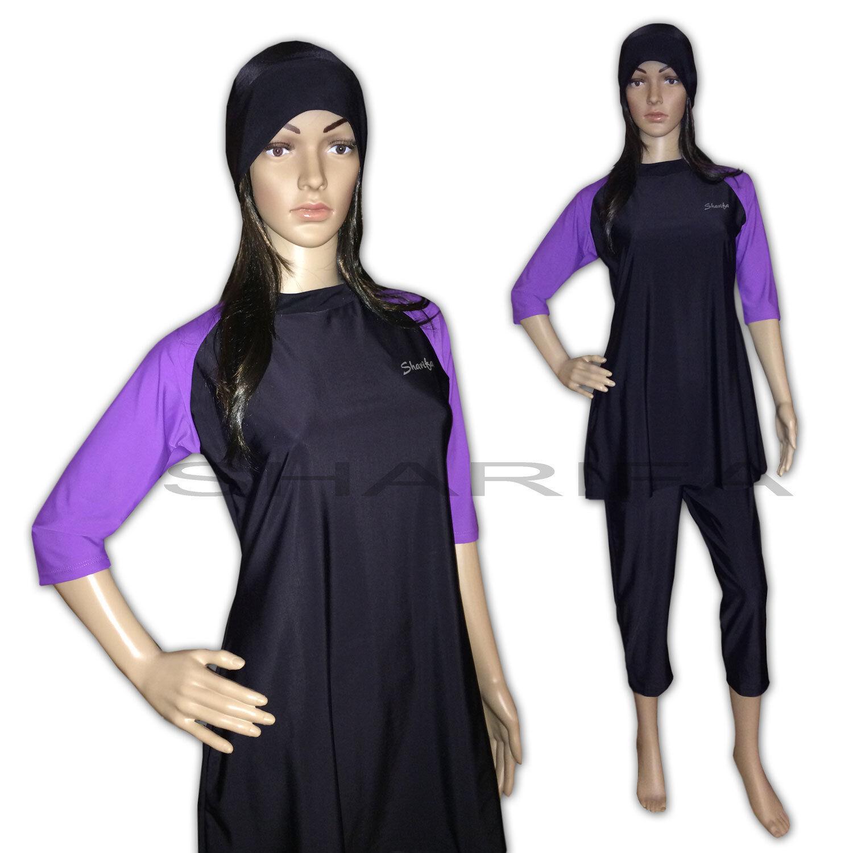 SHARIFA Badeanzug Poolanzug Tesettür Mayo Abbaya Hijab Muslim Swimwear Burkini