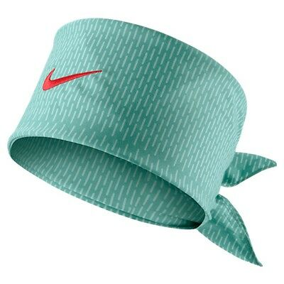 New Nike Tennis Bandana Hero Print Jade Crimson Federer Rafa Nadal 596625-339