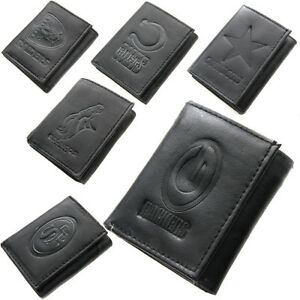 Brand-New-NFL-Team-Black-Tri-Fold-Leather-Wallet-Assorted-Teams