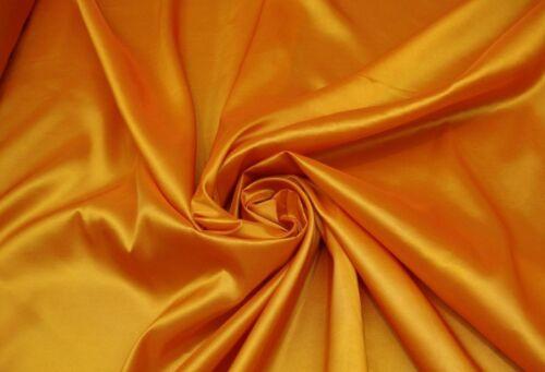 "Taffeta Solid Fabric SAFFRON// 58/"" Wide Sold by yard dress gown curtain"