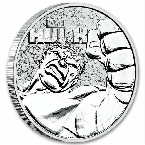 HULK MARVEL SERIES 2019 1 oz Pure Silver Coin CAPSULE Tuvalu Perth Mint
