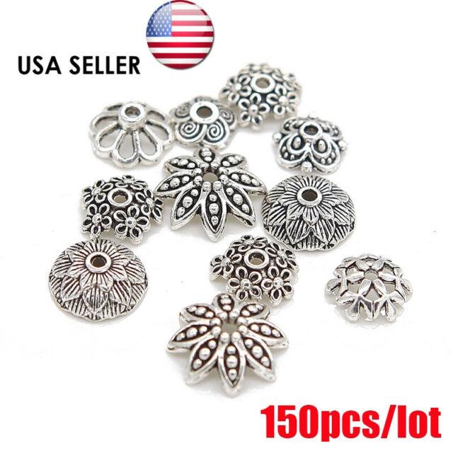 40pcs Tibetan silver 7mm round spacer bead h1428