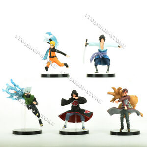 5 pcs Naruto Shippuden Action Figures Toy Set: Kakashi Sasuke Gaara Itachi