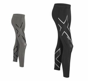 a241a65295 Image is loading 2XU-Mens-Hyoptik-Compression-Tights-Steel-black-Reflective