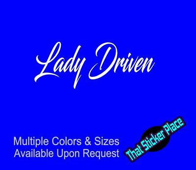 LADY DRIVEN Sticker Vinyl Decal Drift ill Stance illmotion Racing JDM Euro