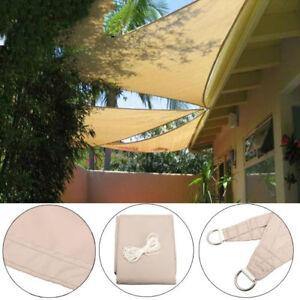 Sun Shade Sail Triangle Rectangle Square Outdoor Patio Canopy Uv