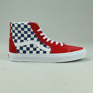 a0ade4e5ff4 Vans BMX Checkerboard Sk8 Hi Shoes Trainers in Blue Red in UK Size 6 ...