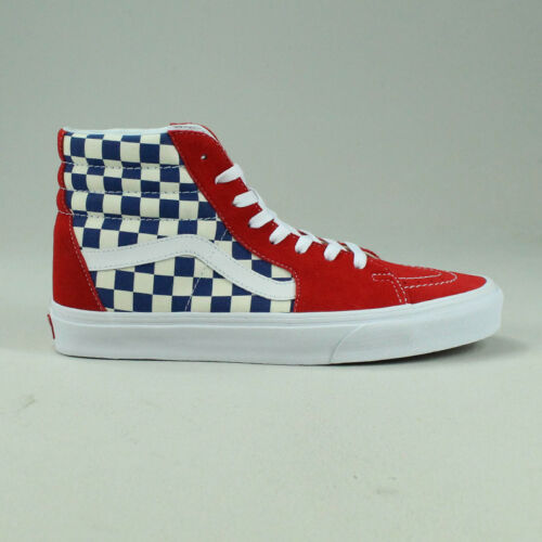 Sk8 10 Red Uk de 7 deporte 6 Checkerboard Hi 9 Zapatillas Bmx Tamaño en azul Vans True blue 8 rojo XqxcUv