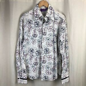 Jimi-Hendrix-Experience-Purple-Label-Floral-Textured-Button-Front-Shirt-Small