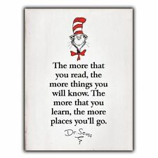 """""""The more that you read"""" Dr. Seuss Quote METAL SIGN WALL PLAQUE print poster"""