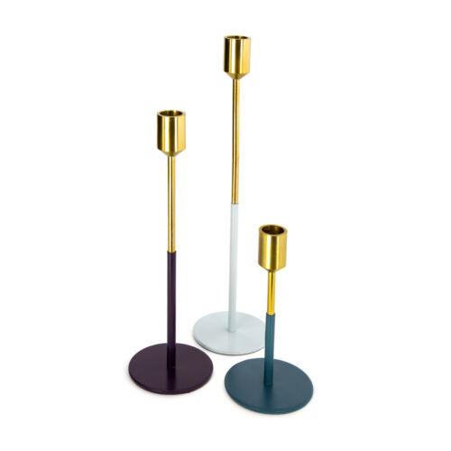 Candeleros 3er set candelabro vara velas decorativas wohnzimmerdeko Gold
