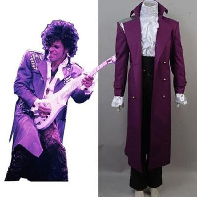 Prince Rogers Nelson in Purple Rain Coat Full Set Suit Cosplay Costume Halloween