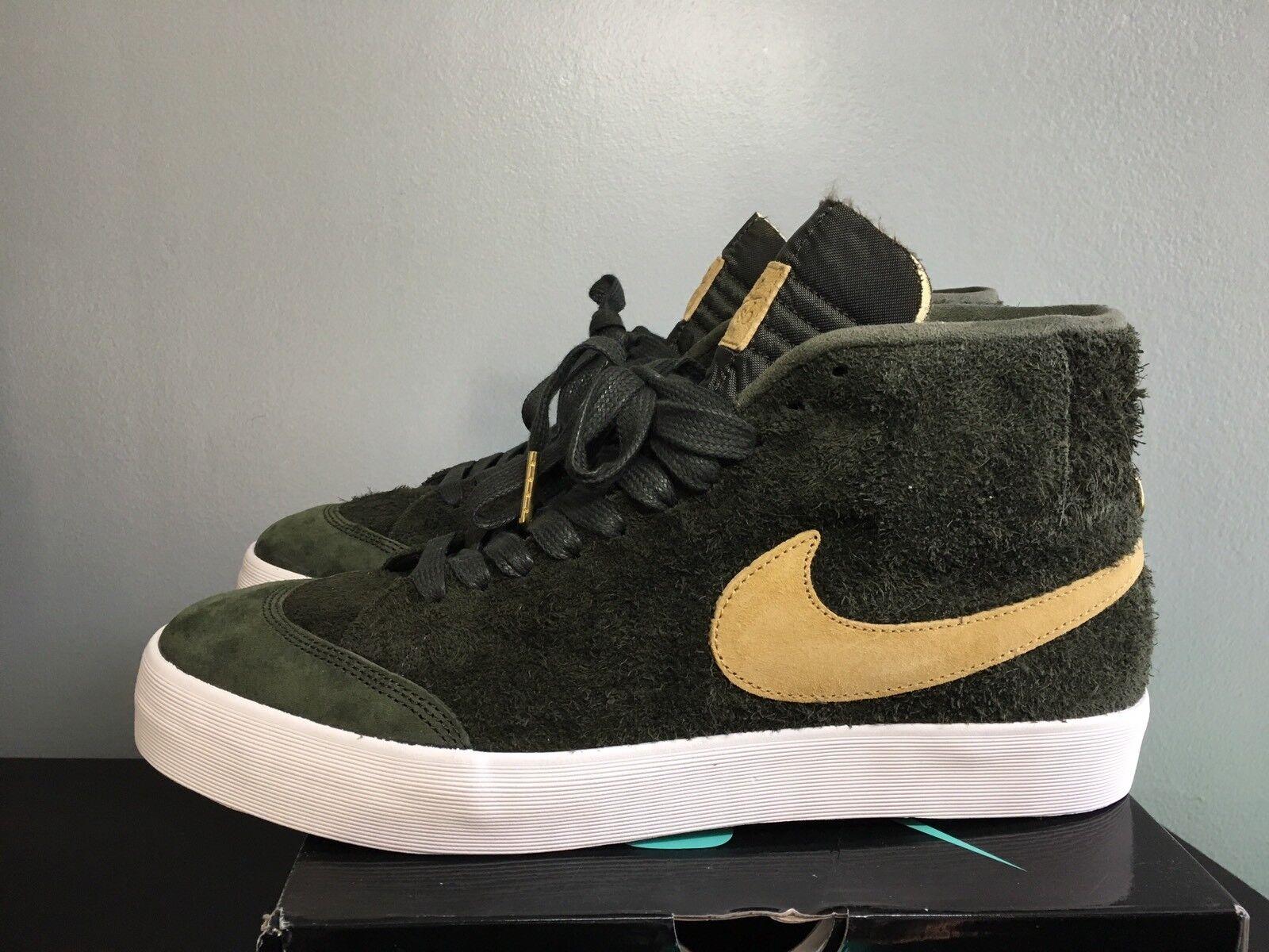 Nike SB Zoom Blazer Mid QS Project 58 Sequoia gold AH6158-369 Size 10