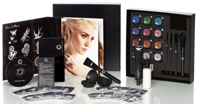 Glitter Tattoo + Matte Stencils Business Starter Kit Pro HD Glimmer Body Art