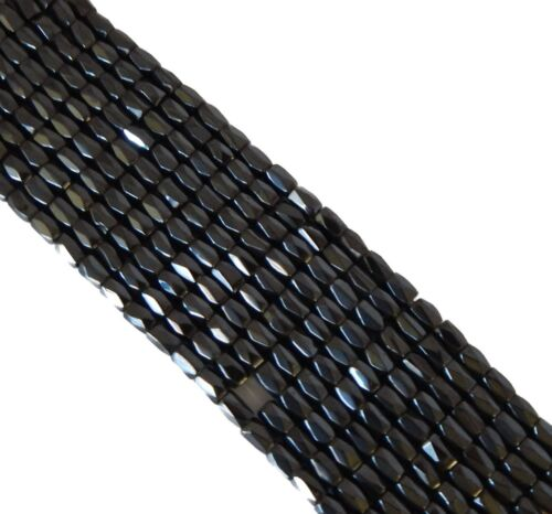 5x8mm Faceted Magnetic Hematite Beads 74 Inches of 250 Beads