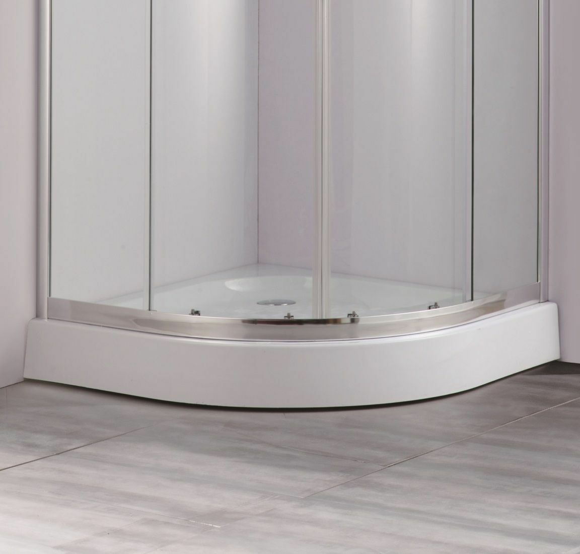 Jupiter Clarence 700mm x 700mm Small Quadrant Shower Enclosure GRP ...