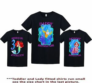 Image Is Loading The Little Mermaid Ariel Birthday Shirt Custom Personalized