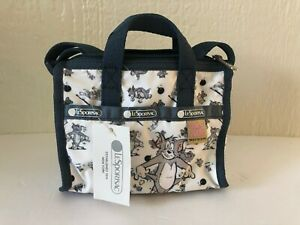 BRAND-NEW-Lesportsac-Petite-Weekender-Crossbody-Shoulder-Bag-Tom-and-Jerry