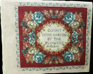 Vtg-Fabric-Pillow-Panel-Count-Your-Garden-by-the-Flowers-Sampler-Concord-Fabrics