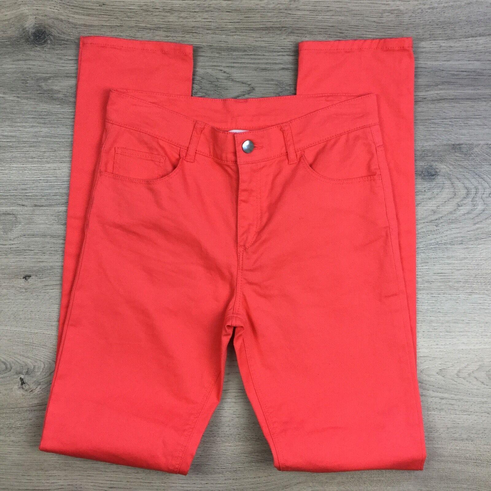 H&M Coral Skinny Leg Jeans Youth Men's Jeans Size W27 L31 (Q11)