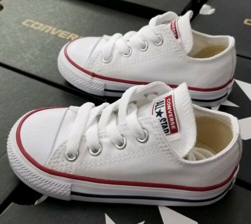 CONVERSE ALL STAR CHUCK TAYLOR LOW WHITE TODDLER 7J256
