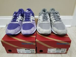 89a7a46144bf Details about Saucony Grid SD size 13 Garden district 2pair purple and grey