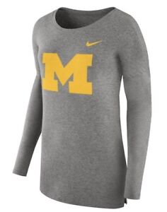 Image is loading Nike-Women-s-Michigan-Wolverines-Football-Cozy-Top- a1697c090
