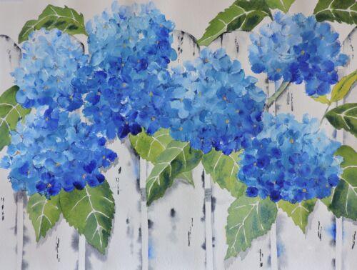 Hydrangea Painting-Print Of Original Painting-Mixed Media