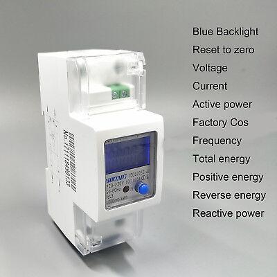 pantalla LCD, 50-60 Hz, S0 5 80 Sun3 para carril DIN Contador de corriente alterna A KWH