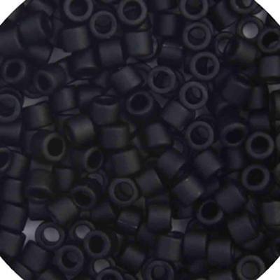 Delica 15//0 RD Black Matte