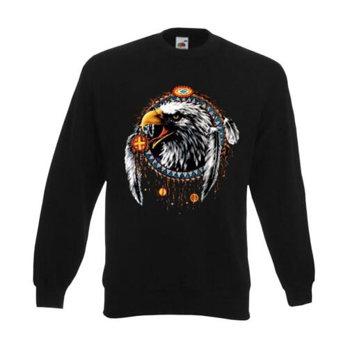 AIM00119 6XL Sweatshirt Eagle Dreamcatcher Indianer Funshirt S