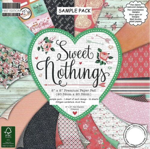 Dovecraft Sweet Nothings 8 X 8 Échantillon Pack 16 Feuilles-AFFRANCHISSEMENT Deal