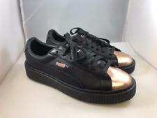 item 3 PUMA Women s Platform BASKET Sneaker Black Leather METALLIC Rose  Gold Sz 9 NWOT -PUMA Women s Platform BASKET Sneaker Black Leather METALLIC  Rose ... 20d71e7ba