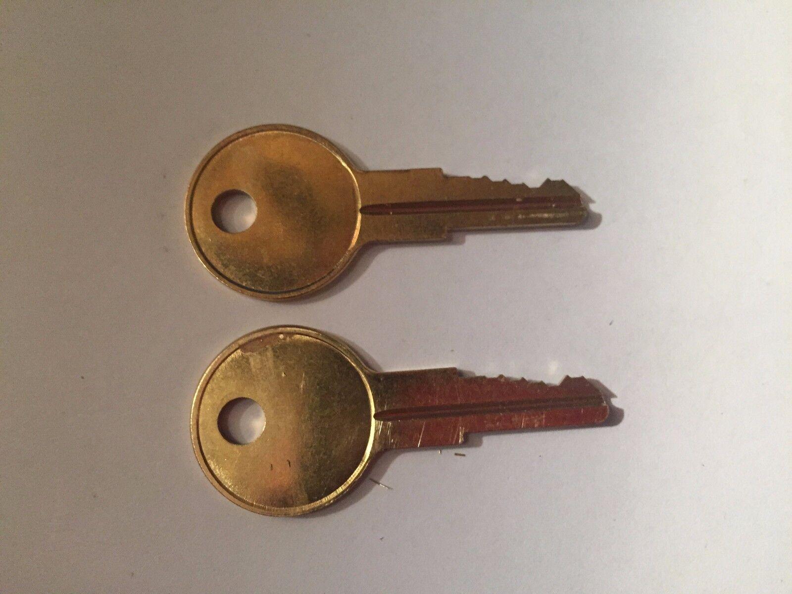 2 Husky Toolbox Keys Codes R611-R612-R613-R614 or R615 Tool Box Chest Lock Key