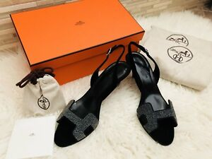 d0a8cc2ac05c New In Box Hermes Women Crystal Sandals Original Price  1300! Size ...