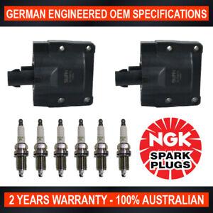 6x-Genuine-NGK-Spark-Plugs-amp-2x-Ignition-Coils-for-Toyota-Landcruiser-FZJ70-75