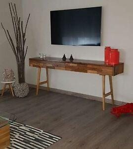 Teakholz Kommode Kabinett Sideboard Schrank Schreibtisch Tisch Flur