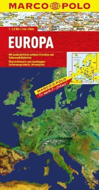 MARCO POLO Länderkarte Europa, physisch 1:2 500 000 (2015, Karte)