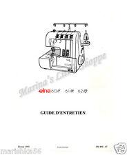 Elna 604E, 614DE, 624DSE Service Manual & Parts / SCHEMATIC on CD in PDF format