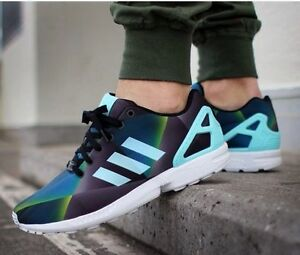 Nuove adidas originali zx flusso scarpe da uomo aqua bianco nero prism