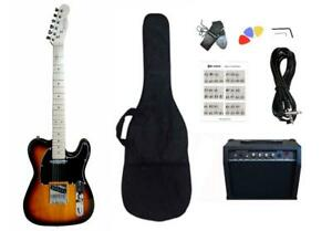 Christmas Gift ! Electric Guitar 20W amp Package for beginners Sunburst PG365 Canada Preview