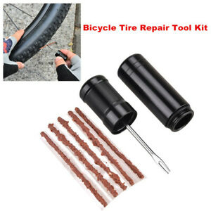 Bicycle-Tire-Repair-Drill-Puncture-Tool-Kit-with-Rubber-Strip-For-Tubeless-Tire