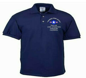 163RD-ATTACK-WING-MARCH-ARB-CA-USAF-ANG-EMBROIDERED-LIGHTWEIGHT-POLO-SHIRT