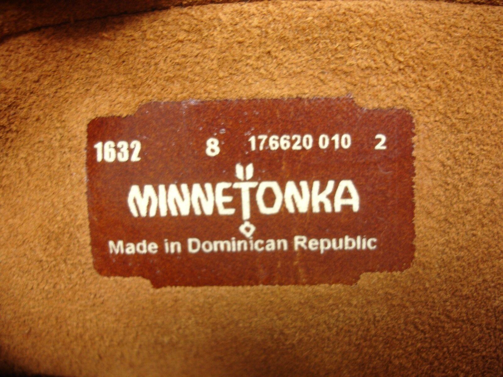 MINNETONKA MOCCASINS 1632 BROWN LAYER SUEDE 3 LAYER BROWN FRINGE CALF HIGH Stiefel WOMEN'S 8 e551e3